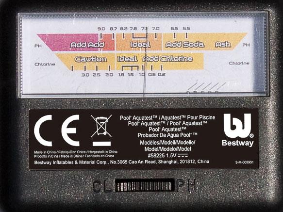Электронный тестер для бассейна Bestway Pool Aquatest 58225 имет удобный экран, где видны все необходимыепоказатели воды.