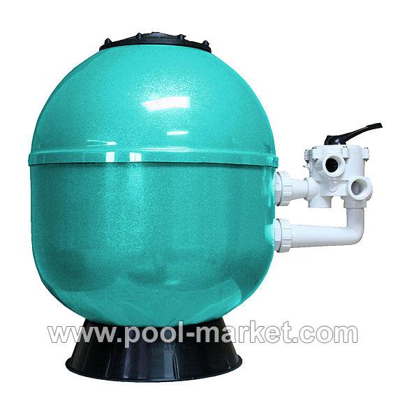 Фильтрующий бак (фильтр для бассейна) с боковым подключением, лакированный.