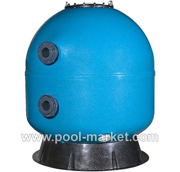Фильтровальный бак для коммерческих бассейнов и аквапарков. Комплектуется пятикрановой обвязкой для управления работой фильтра.