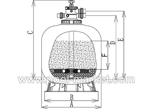 Схема фильтра для бассейна с верхним подключением