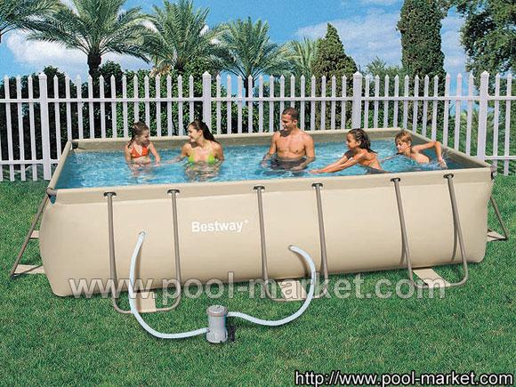 прямоугольный каркасный бассейн bestway 56195 - небольшой бассейн, в комплекте только фильтрующий насос