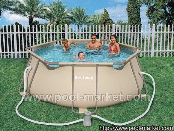 круглый каркасный бассейн bestway 56198 - недорогой бассейн, в комплекте столько фильтрующий насос