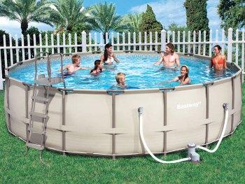 круглый каркасный бассейн bestway