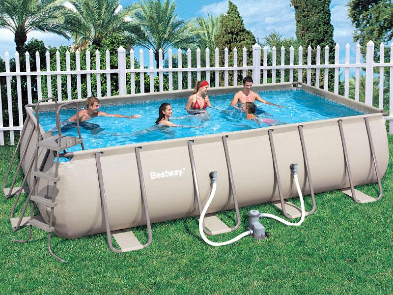 прямоугольный каркасный бассейн bestway