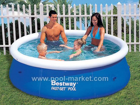 Небольшой круглый надувной бассейн Bestway