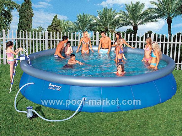 Большой надувной бассейн Bestway (круглый)