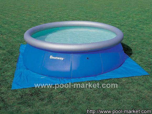 Покрытие под бассейн - защищает дно от повреждений.