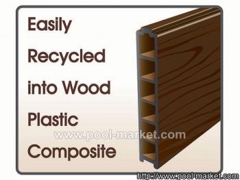 Древесно-полимерный композит, из которого сделаны стенки бассейна, устойчив в ультрафиолетовому излучению и воздействию воды