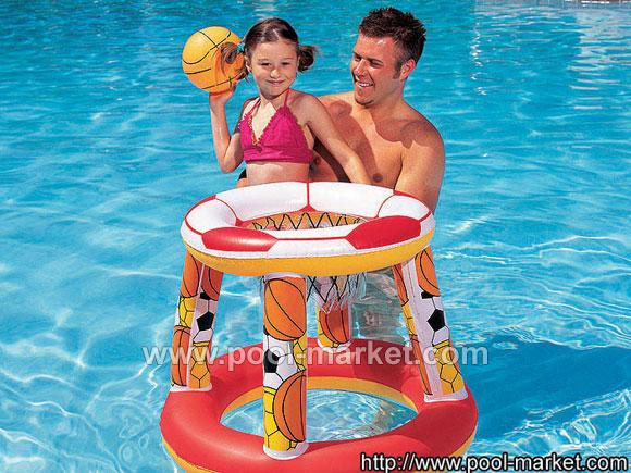 Плавающий баскетбольный набор Bestway 52040, в комплекте 1 мяч 31см.